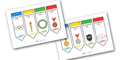 The Olympics Bookmarks from Twinkl
