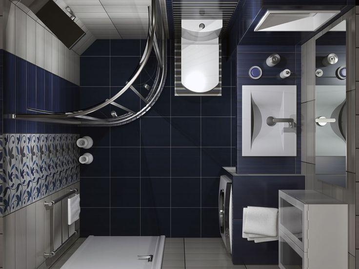 Σχέδια μπάνιου - Κάτοψη χώρου