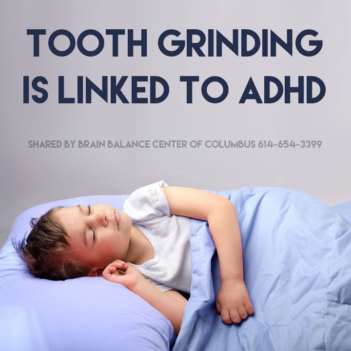 Turns out your child's #ADHD anxiety doesn't sleep when your kid does. Research suggests that children with the habit of involuntarily grinding their teeth, known as bruxism, are more likely to develop anxiety, stress and hyperactivity, and bruxism has also been linked to ADHD.  #ADHDAwarenessMonth