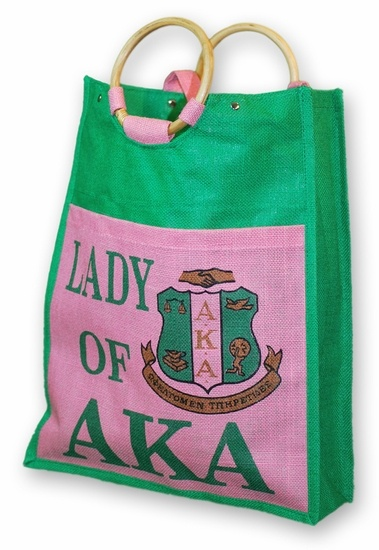 AKA Pocket Jute Shopping Bag#followprettypearlsinc AKA 1908
