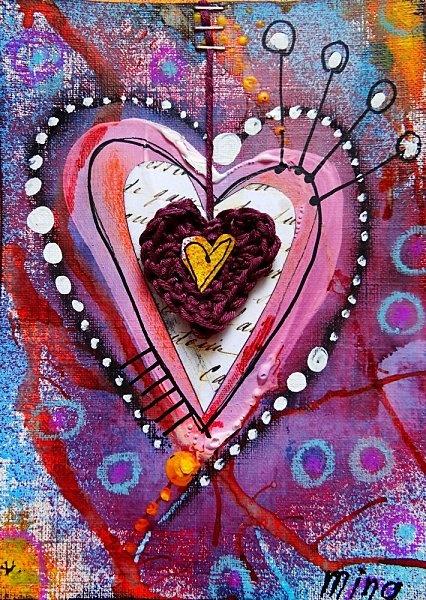 Heart Pastel # watercolor # mixed media