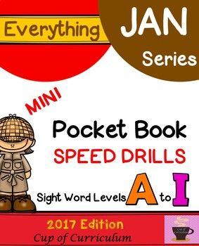 Provide students with systematic, repeated readings of leveled sight words. Have students self-monitor their fluency of each sight word level using these mini Pocket Book Speed Drills. Then, you can assess mastery using the check-off list provided. Each Pocket Book Speed Drills level is sold separately. *This product includes ALL LEVELS A-I, including GHI Sets 1 & 2.* ***This product is aligned to the resources needed in Jan Richardson's new book The Next Step Forward in Guided Re...