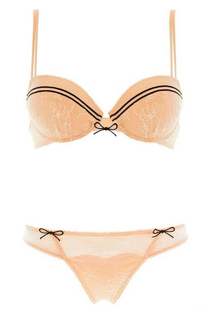 """5 French Lingerie Brands You Need To Know #refinery29  http://www.refinery29.com/french-lingerie#slide-8  Pair these two pieces with their matching garter belt for a full bedroom look.Rosy Soutien-gorge À Coques, $79, available at Lemon Curve; Rosy String, $36, available at <a href=""""http://lemoncurve..."""