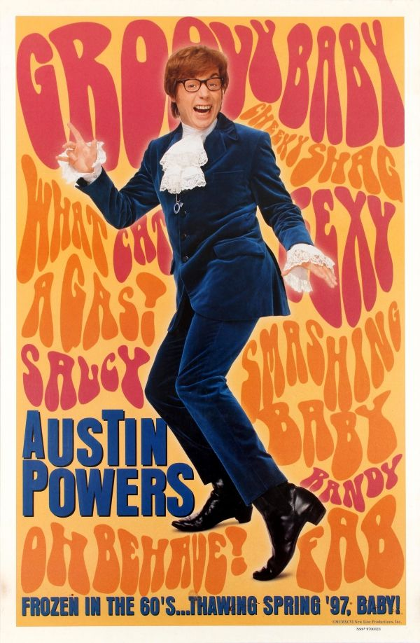 Austin Powers Mike Myers Shagtastic Poster
