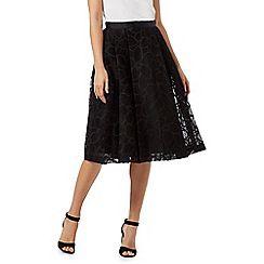 RJR.John Rocha - Black floral detail A-line skirt