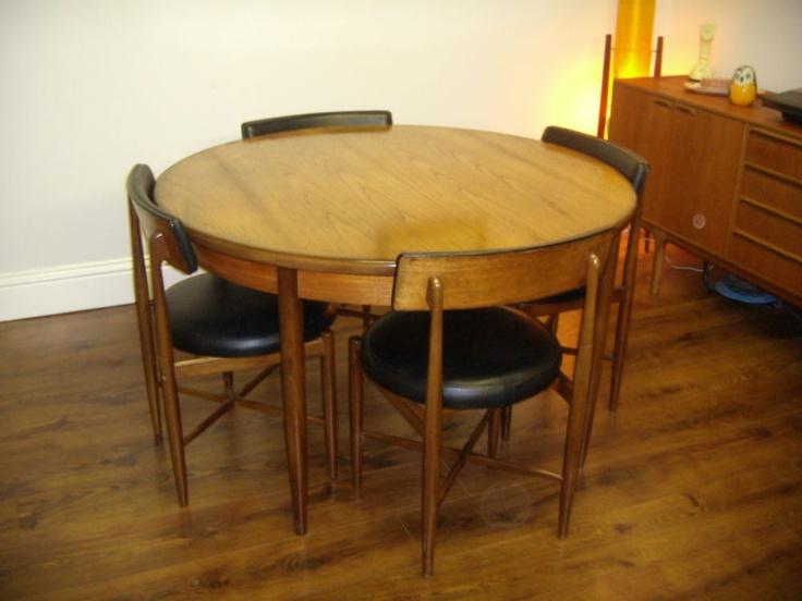 Set Of 4 Vintage Retro Danish Design G Plan Larsen Teak Dining Chairs And Table