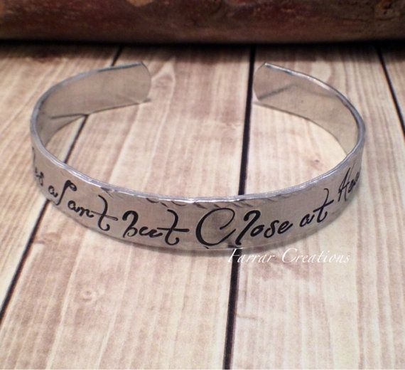 Stack Personalized Aluminum Cuff  Miles apart by FarrarCreations, $24.50