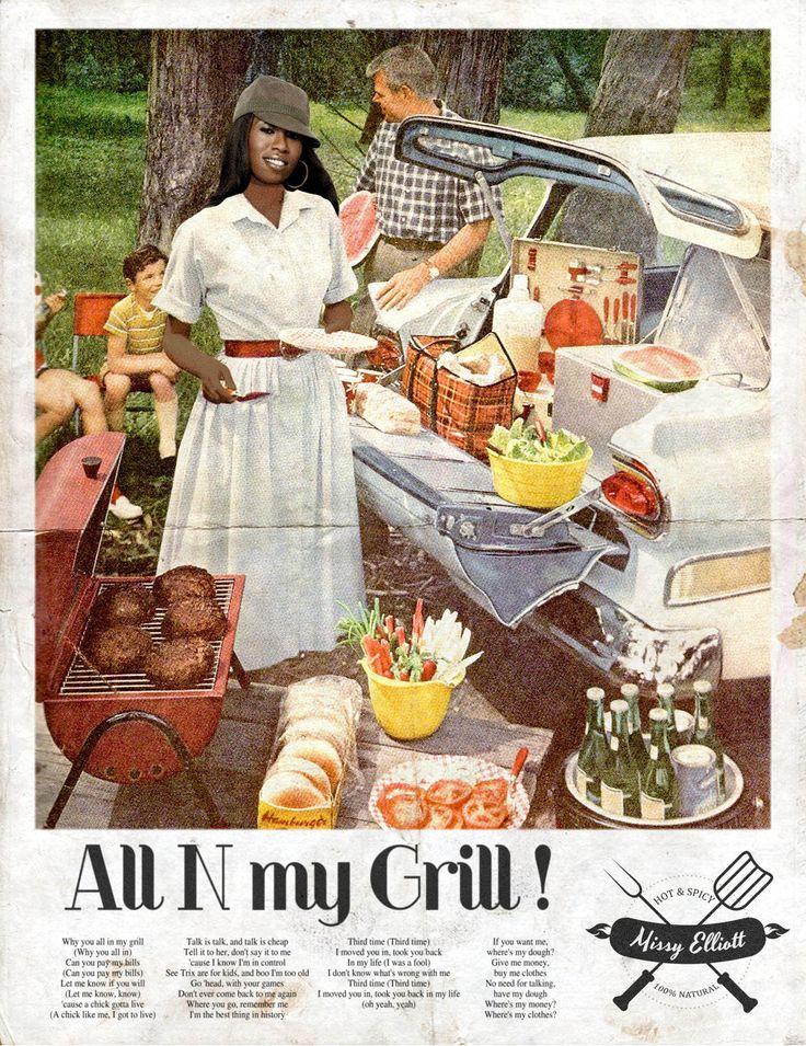 All N my grill / Missy Elliott © Ads Libitum :facebook/tumblr/behance