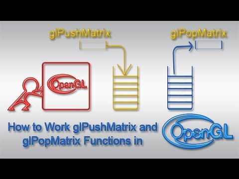 How to Work glPushMatrix and glPopMatrix Functions in Opengl
