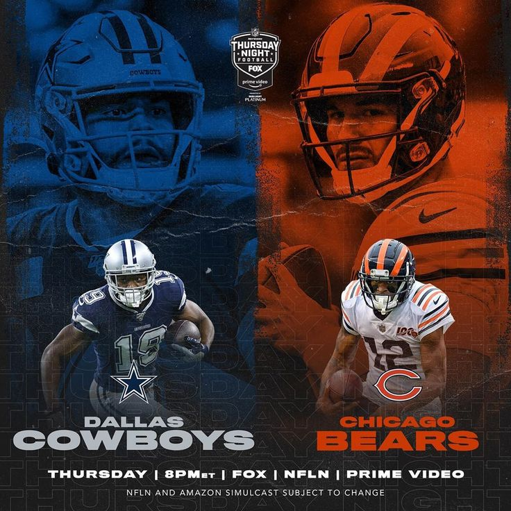 Nfl Dallascowboys Chicagobears Who S Improving Their Playoff Chances On Tnf Big4 Bigfour Big4 Dallas Cowboys Nfl Thursday Night Football