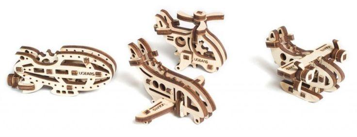 UGEARS 3D puzzle U-Fidget Letadla
