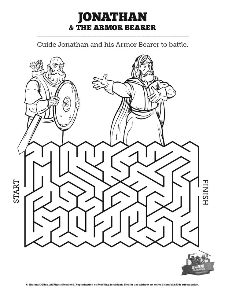 Jonathan And His Armor Bearer Bible Mazes: Can your kids