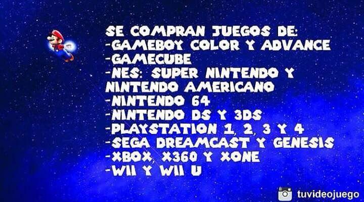 @tuvideojuego !Compramos tus juegos de vídeo al mejor precio! - Si tienes videojuegos originales que quieras vender ponte en contacto con nosotros para consultar los precios a pagar de cada uno de tus videojuegos - Escribenos al direct @tuvideojuego o envianos un whatsapp al 04129439046 - #Videojuego #Venta #Compra #Trueque #Publicidad #Valencia #SanDiego #Naguanagua #Carabobo #Venezuela #Nintendo #Gameboy #Gamecube #SuperNintendo #Nintendo64 #NintendoDS #Playstation #Xbox #Wii…