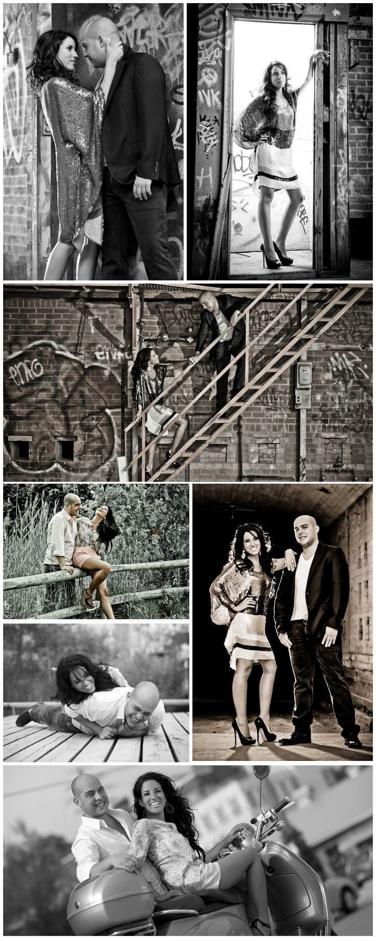 Cool urban engagement photography shoot in downtown Toronto by Richard Emmanuel Photography