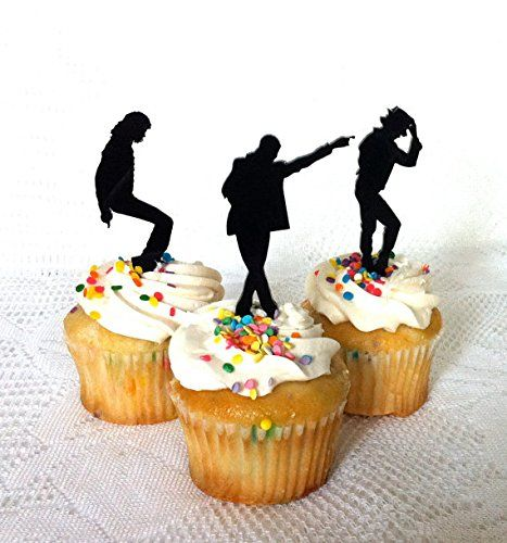Set of 12 Michael Jackson Cupcake Toppers Set of 12, Michael Jackson Fans. Michael Jackson Birthday Party, MJ, Michael Jackson Cake Topper for Cupcakes Creative Butterfly XOX