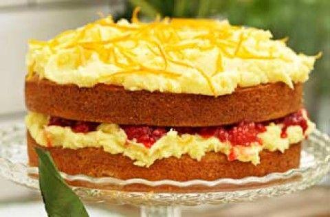 Sophie Dahl's orange and raspberry Victoria sponge recipe - goodtoknow