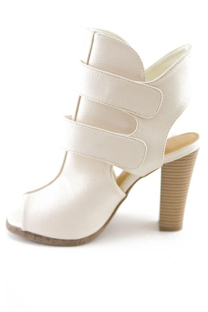 ECKERTT STRAP BOOTIE HEEL - BEIGE - Find 150+ Top Online Shoe Stores via http://AmericasMall.com/categories/shoes.html