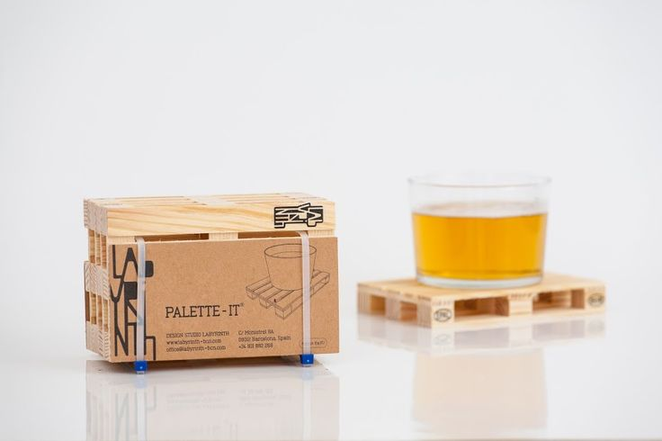 Palette-It - Design Pallet Coasters on Packaging of the World - Creative Package Design Gallery