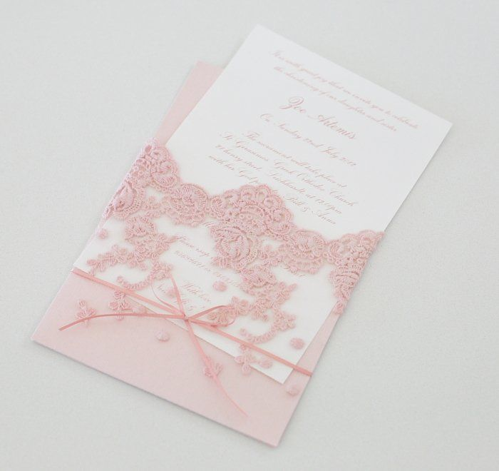 Le Petit Party lace invitations