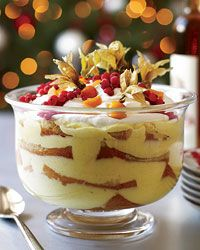 Italian Trifle with Marsala Syrup: In Italy, Fabio Trabocchi makes this dessert with Alchermes, a bright-red cinnamon-scented liqueur rarely seen in the States. The Sicilian fortified wine Marsala is a good substitute: It has a subtler color but a similarly spiced flavor, perfect for drenching squares of soft sponge cake layered with vanilla-infused pastry cream.