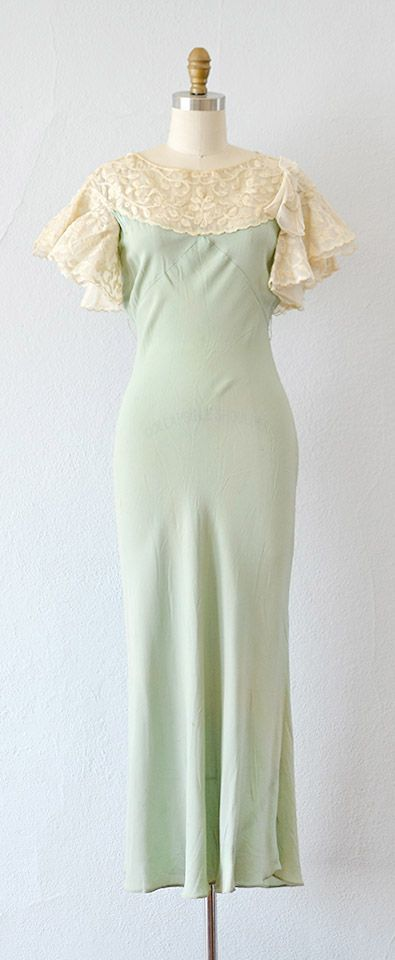 vintage 1930s SONGS OF THE PASSERINE dress by Adored Vintage #1930s #30svintage