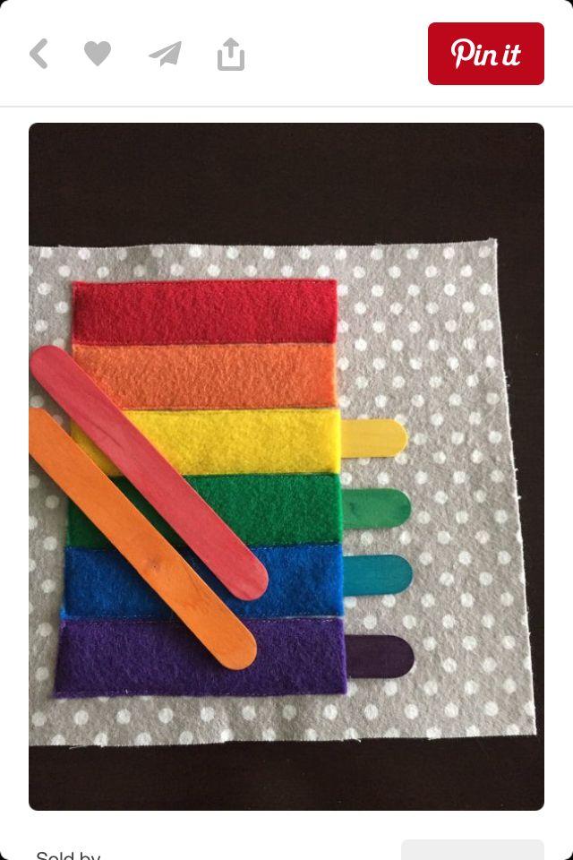 Rainbow stick pockets
