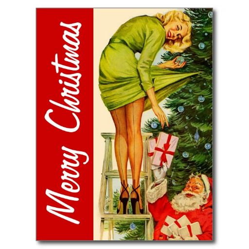 Frohe Weihnachten Vintage Postkarte | Zazzle