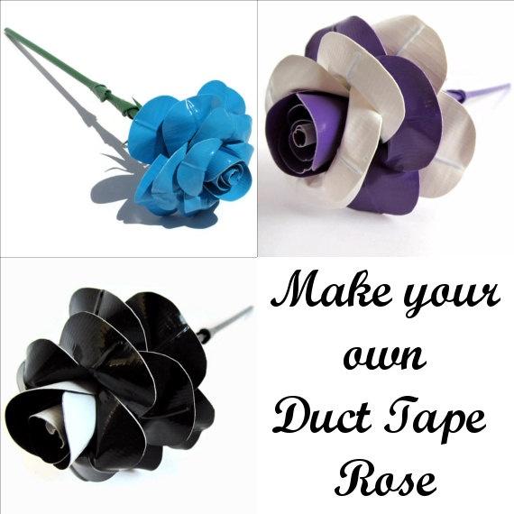 Duct tape flower pens