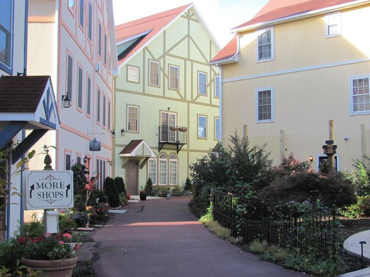 Stoudtburg Village, Adamstown, PA Bavarian-style shopping village inspired by Rothenburg, Germany. http://www.whereandwhen.com