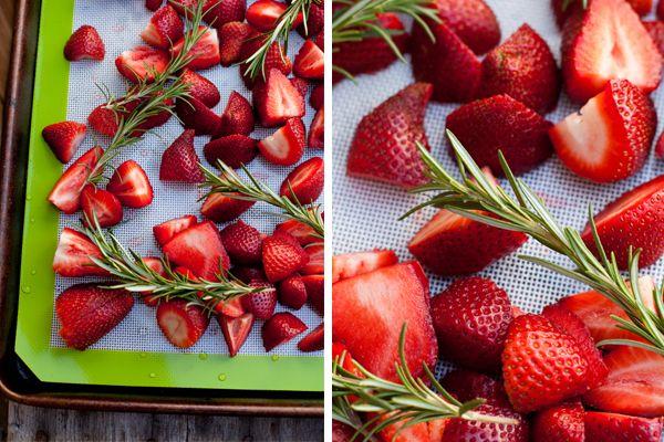 Roasted Strawberry and Rosemary Coconut Milk Ice Cream