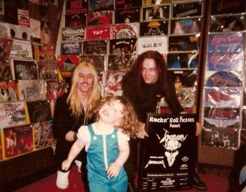 """Jeffrey Dunn """"Mantas"""" ( Guitar ) and Conrad Lant """"Cronos"""" ( Vocals and Bass ) of Black Metal band Venom"""