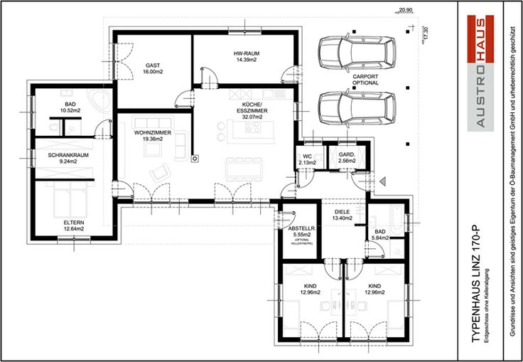 Grundriss bungalow flachdach verschiedene for Flachdachhaus grundriss