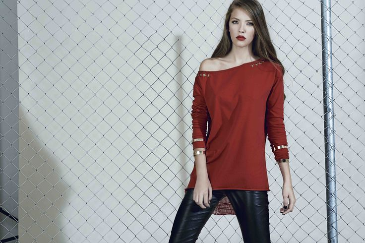 Jersey top with shredded back from our Fall/Winter 2015 collection: http://manuri.ro/product/manuri-stardust-blouse/