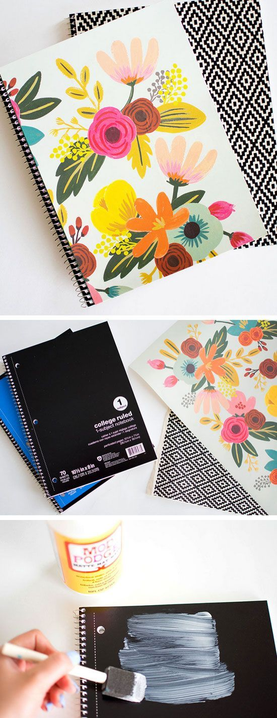DIY Customizable Notebooks | Click Pic for 18 DIY Back to School Crafts for Teens to Make | Easy Back to School Crafts for Kids to Make