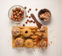 Te compartimos la receta para preparar Cupcakes rellenos de crema de avellanas, cocina con inspiración con Recetas Nestlé.gracias por la re