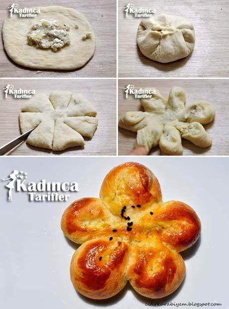 Patatesli Peynirli Çiçek Poğaça Tarifi