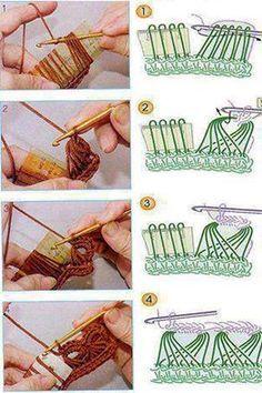 Broomstick Crochet ༺✿Teresa Restegui http://www.pinterest.com/teretegui/✿༻