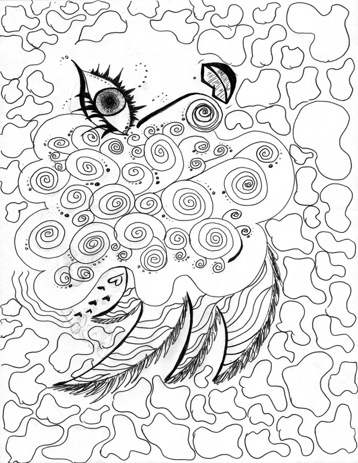 """""""Creative Eye""""  I drew this out on a piece of paper and then I brought it into Photoshop and then used my """"Bamboo"""" Wacom pad to add color.  I also printed this on canvas, colors look amazing."""