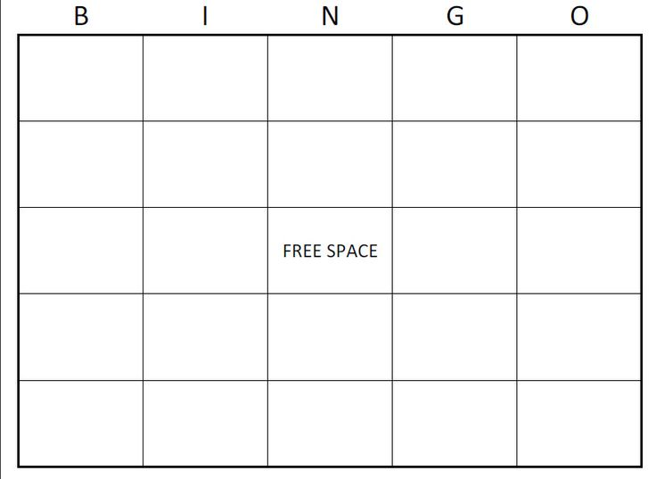 Free Bingo Card Template | Large Printable Blank Bingo Cards