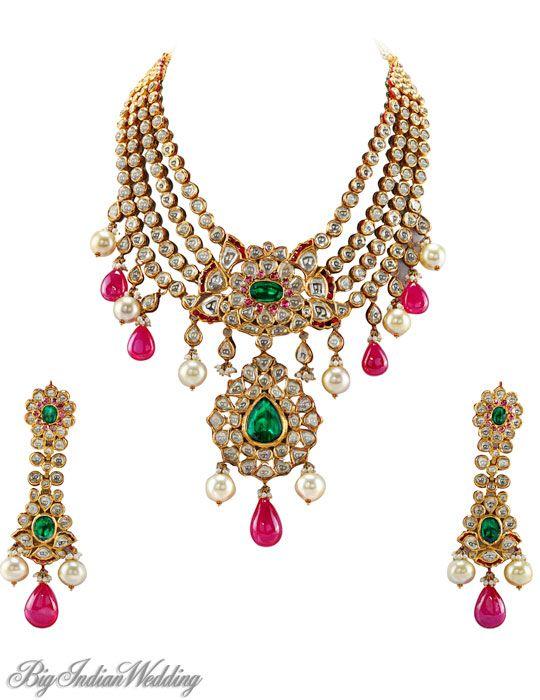 Tanishq Kundan Jewellery | ... : Bridal jewellery Diamond jewellery Jewellery designs Kundan meena