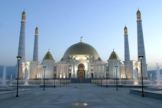 Turkmenistan! Home of my beloved friend Maisa. Well, the country is her home. Not this giant mosque. ...