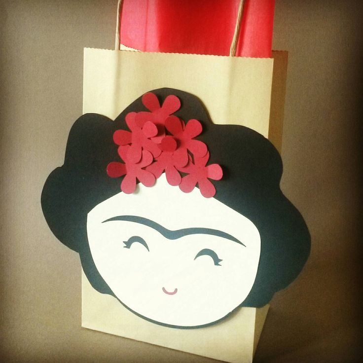 Frida Kahlo Favor Bags / Mexican Themed Party by PAPALOTES on Etsy