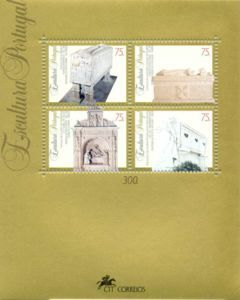 Sello: Sculptures (Portugal) (Sculptures) Mi:PT BL101,Sn:PT 2007,Yt:PT BF103,Afi:PT BL150