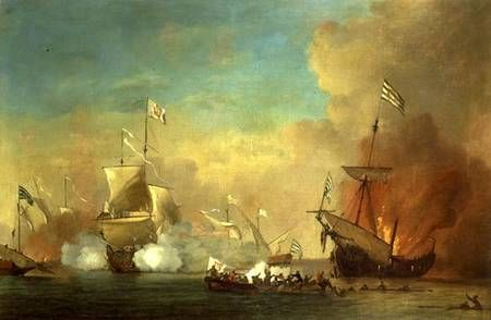 Part I. The Barbary Wars (1801 - 1805) A series of naval engagements fought by the U.S. Navy, against Morocco, Algiers, Tripoli, and Tunis. The United States refusal to pay tribute for protection of its ships in the Mediterranean Sea was the issue that precipitated the naval actions.