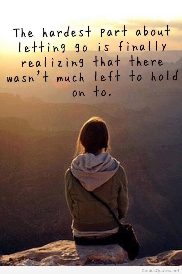 Hard part of letting go