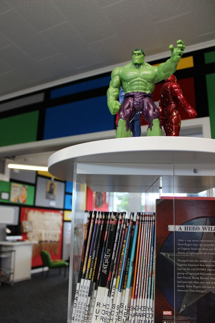 Even the hulk features in this library fitout atop our custom shelving #library #custom #bfg
