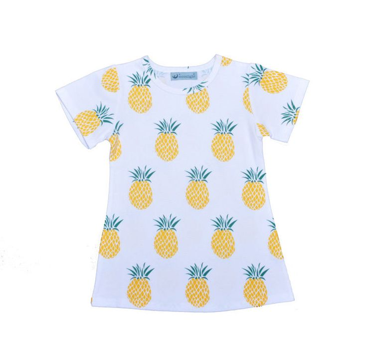 Kids girls t-shirt fruit pineapple printed Cotton Summer 2016 t shirt for girls…
