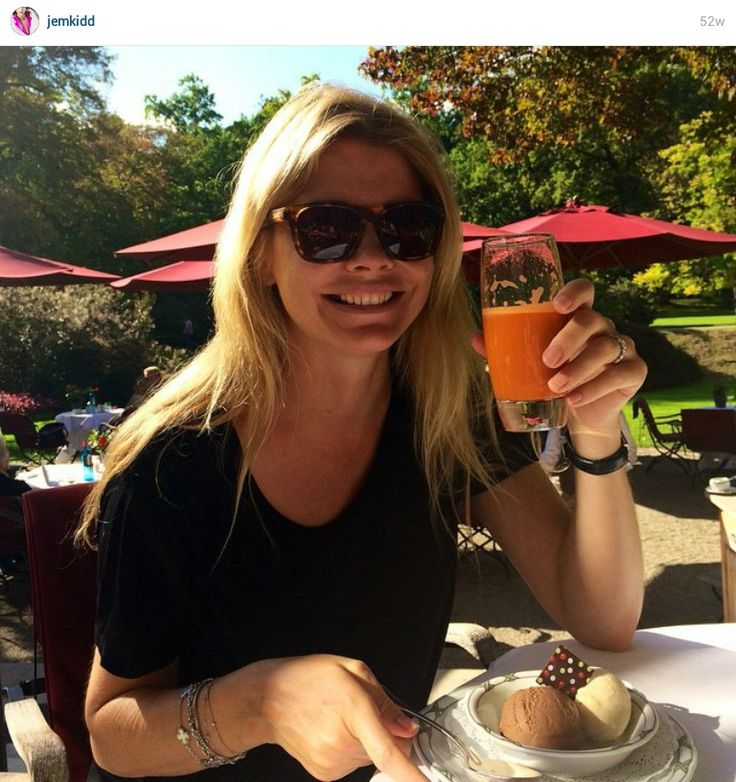 From the Instagram of Jemma Kidd ~   Its my birthday and all i wanted was carrot juice and ice cream... Pregnant madness