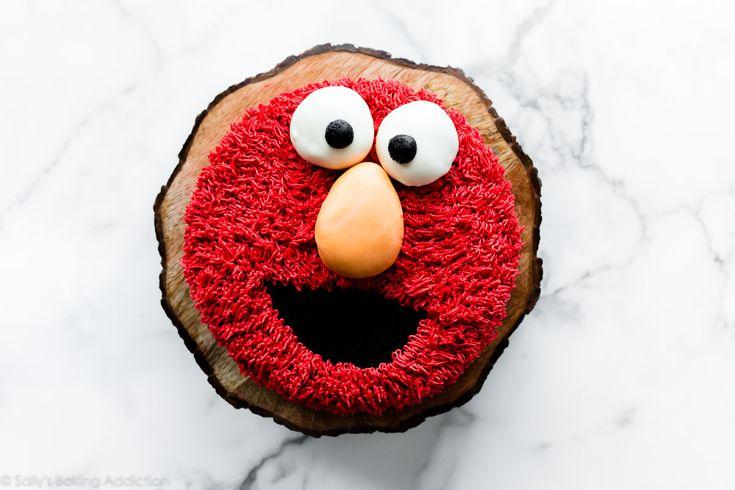 Lerne, wie du einen Elmo Cake dekorierst, den perfekten Sesamstraßen-Geburtstagskuchen! Ich l …   – recipes to make
