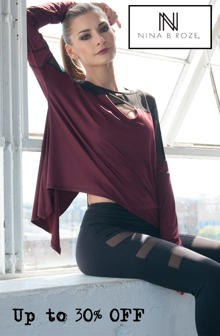 Love these styles!  Get your workout on with these markdowns from Nina B Roze.